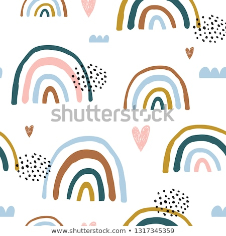 Szivárvány végtelen minta színek kézzel rajzolt illusztráció eps8 Stock fotó © VOOK