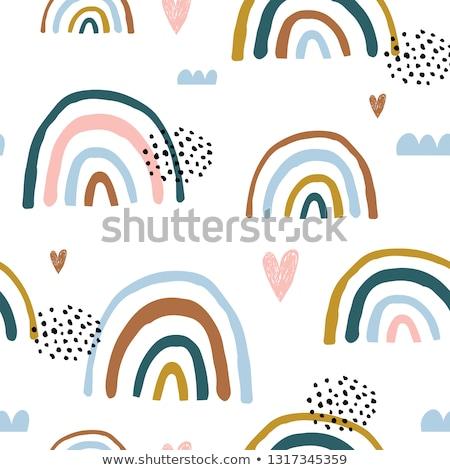 rainbow seamless pattern stock photo © vook