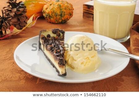 karmel · sernik · tle · ciasto · tabeli · ser - zdjęcia stock © msphotographic