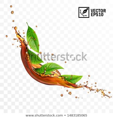 Stok fotoğraf: çay · damla · çanta · içmek · siyah · sıcak