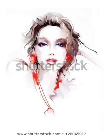 artistik · kadın · olağanüstü · vücut · dizayn - stok fotoğraf © neonshot