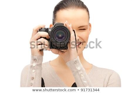 камеры · изолированный · белый · черный · зеркало - Сток-фото © lightpoet