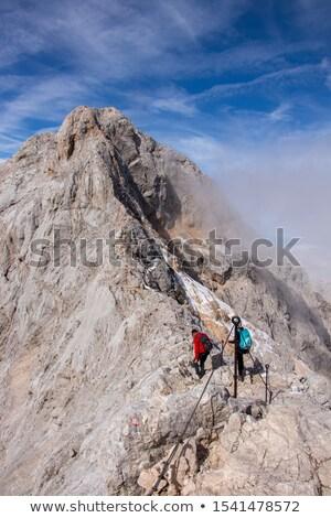 dangereux · chemin · vertical · vue · ascension · pic - photo stock © 1Tomm