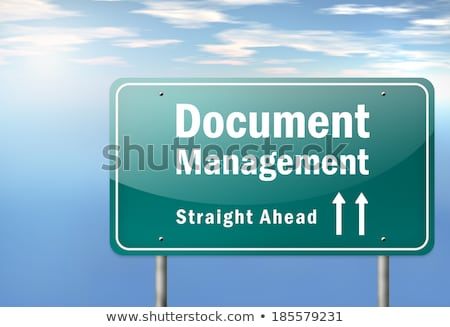 document management on highway signpost stock photo © tashatuvango