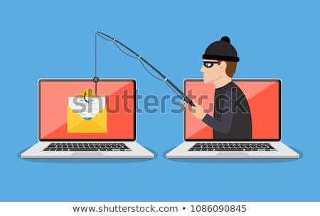 Phishing 3D gerado quadro teclado chave Foto stock © flipfine