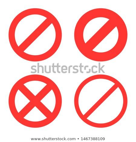 знак · красный · предупреждение · символ · изолированный - Сток-фото © konturvid