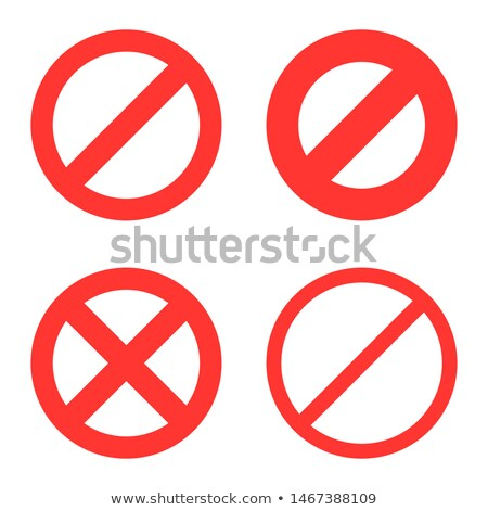 prohibitory sign vector illustration Stock photo © konturvid