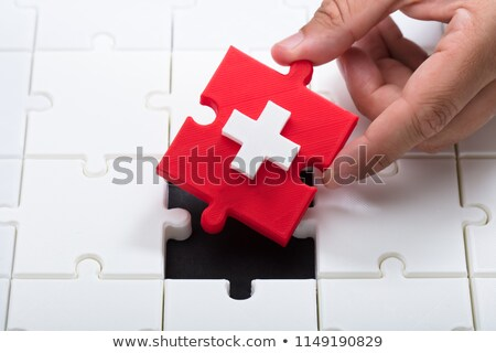 medical facility icon in puzzle Stock photo © Istanbul2009