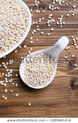 Kopia przestrzeń perła jęczmień żywności tabeli Zdjęcia stock © Zerbor