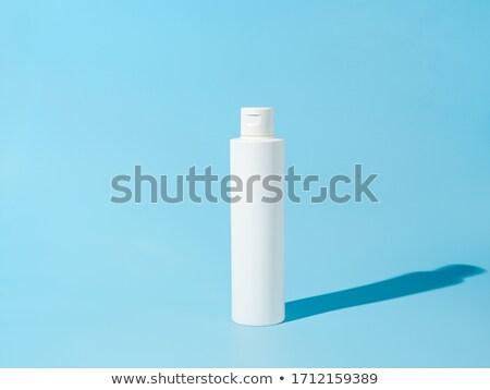Mosószer kék fehér műanyag üvegek friss Stock fotó © dariazu
