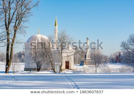 Winter  landscape with Turkish Bath  and Chesme Column pavilion  Stock photo © Pilgrimego