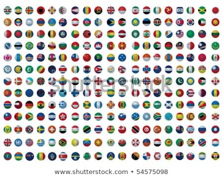 kaart · Engeland · vlag · stad · zwarte · silhouet - stockfoto © istanbul2009