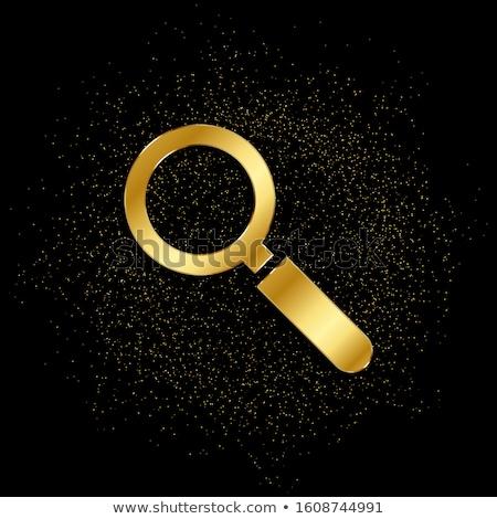 Zoom fora dourado vetor ícone botão Foto stock © rizwanali3d