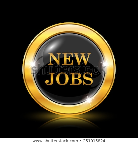 job offer golden vector icon button stock photo © rizwanali3d