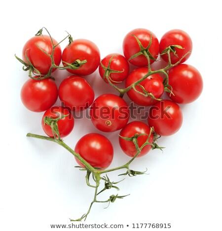 ökör · szív · paradicsomok · piros · fehér · étel - stock fotó © philipimage