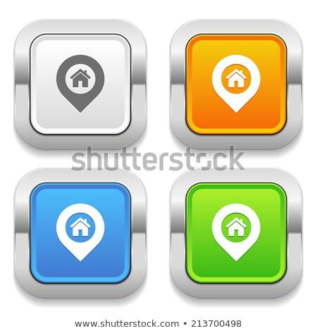 Dört mavi web düğmeler el imleç Stok fotoğraf © tashatuvango