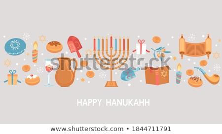 праздник · свечей · бумаги · счастливым · фон · зима - Сток-фото © mr_vector
