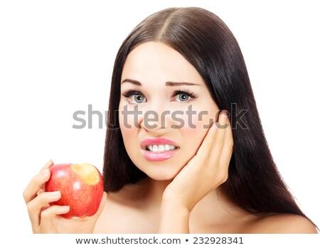 красивая · женщина · зубная · боль · фото · студент · медицина - Сток-фото © nobilior