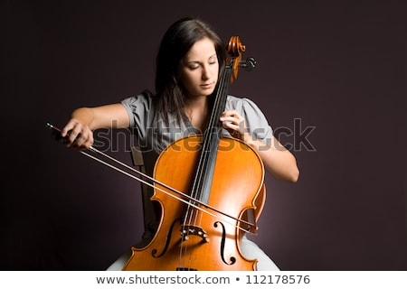 Portrait of attractive girl playing cello  Stock photo © Elisanth