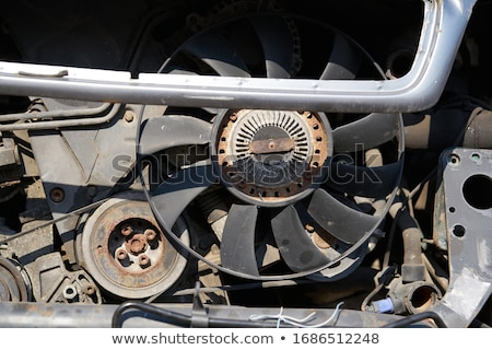 radiator · motor · koeling · aluminium · landbouw · trekker - stockfoto © art9858