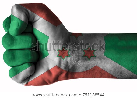 Pessoas bandeira Burundi isolado branco multidão Foto stock © MikhailMishchenko