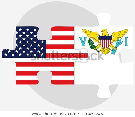 usa and united states virgin islands flags in puzzle stock photo © istanbul2009