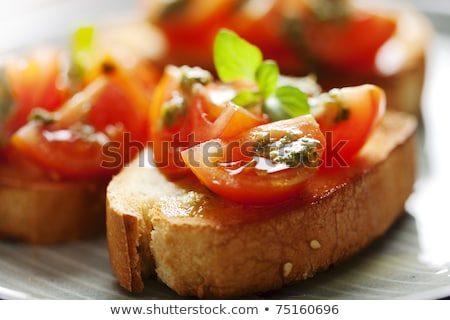 antipasti · nourriture · italienne · bruschetta · poivre · tomate - photo stock © dariazu
