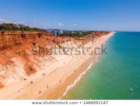 Cliffs at Praia da Falesia Stock photo © compuinfoto