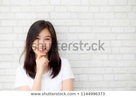 beautiful woman grunge background stock photo © lubavnel