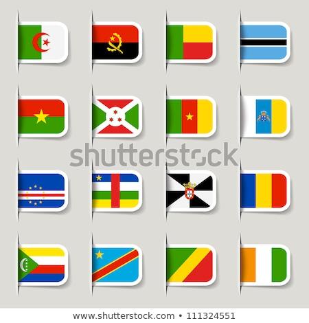 Banderą etykiety Gambia odizolowany biały podpisania Zdjęcia stock © MikhailMishchenko