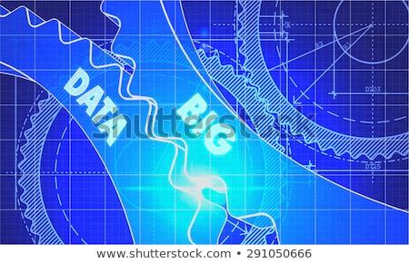 Grand données plan techniques dessin Photo stock © tashatuvango