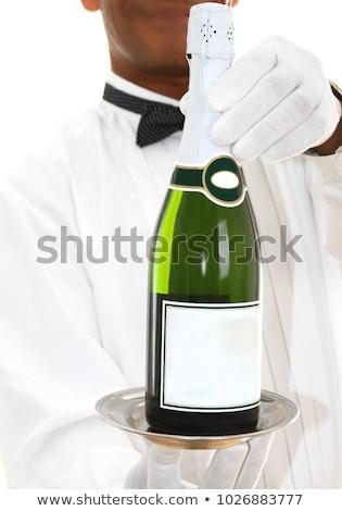 apertura · bottiglia · vino · bianco · messa · a · fuoco · selettiva - foto d'archivio © dashapetrenko