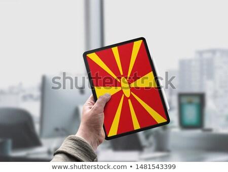 Tableta Macedonia bandera imagen prestados Foto stock © tang90246