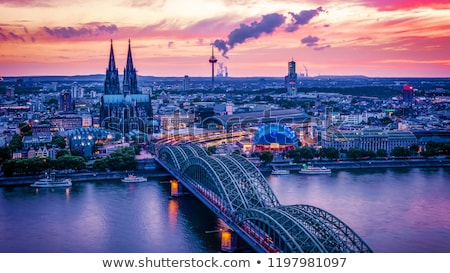 Cologne at night Stock photo © Spectral