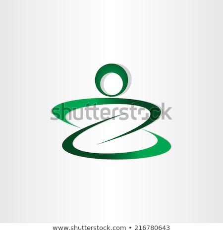 letter z man icon stylized design Stock photo © blaskorizov