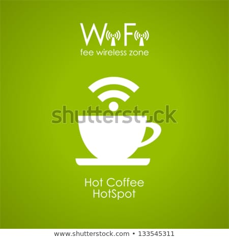 Cup of coffee with Wi-Fi Symbol Stock photo © netkov1