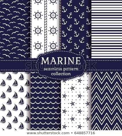 Nautical or marine themed seamless pattern Stock photo © netkov1