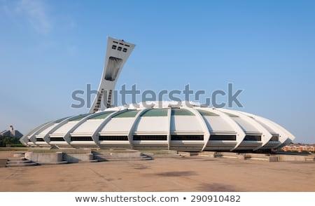Montreal stadion foto toren vlaggen hemel Stockfoto © nialat