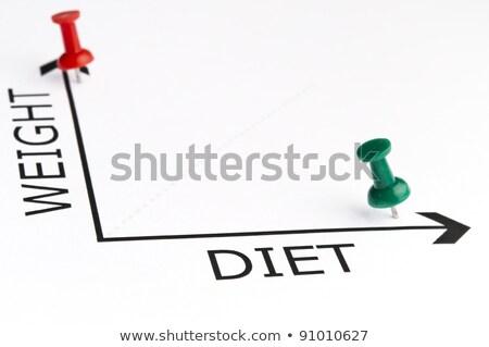 Stock fotó: Diéta · diagram · zöld · tő · fitnessz · siker