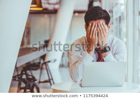 Mobbing and stress at work Stock photo © alphaspirit