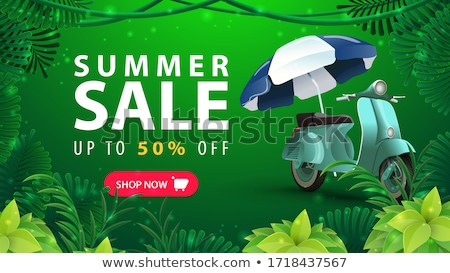 Weekend Offer Green Vector Icon Button Stock photo © rizwanali3d
