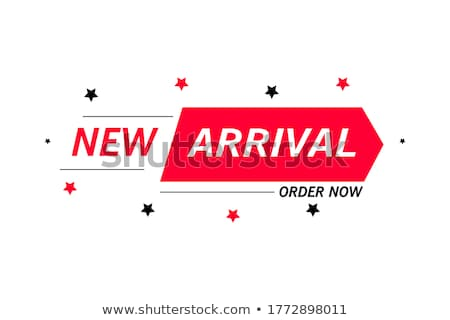 új érkezés kék vektor ikon terv Stock fotó © rizwanali3d