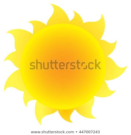 karikatür · güneş · eğim · renk · gülen · turuncu - stok fotoğraf © madelaide