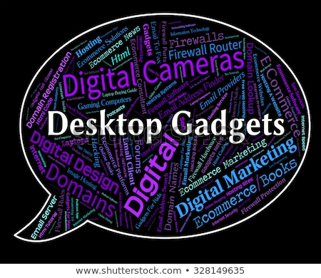 desktop gadgets means mod con and appliances stock photo © stuartmiles