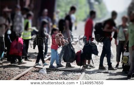 Egyesült · Államok · keret · fal · amerikai · bevándorlás · USA - stock fotó © lightsource