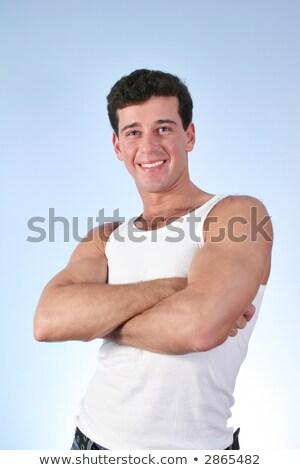 smile man in underwaist Stock photo © Paha_L