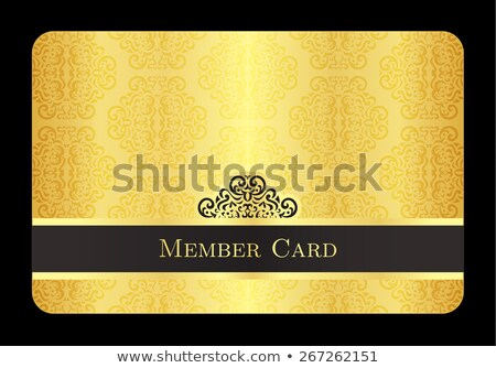 Golden member card with classic vintage pattern Stock photo © liliwhite