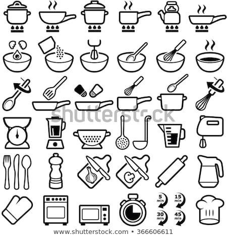 刀具 烹飪 圖標 向量 食品 商業照片 © smuki