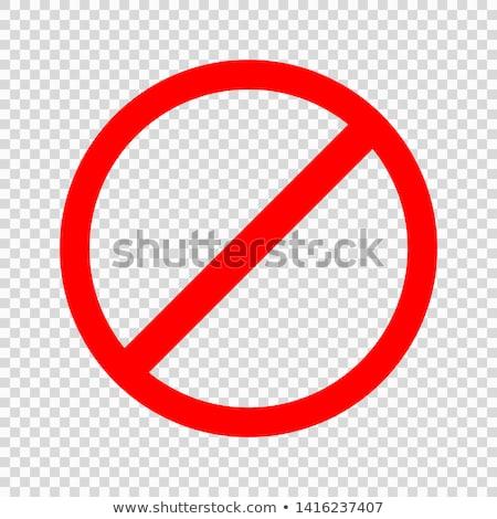 not allowed sign line icon stock photo © rastudio