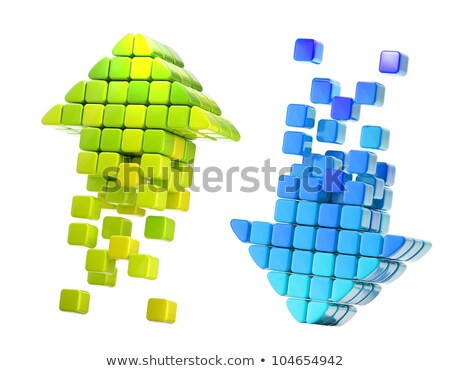 Arrow icon made of cubes Stock photo © m_pavlov
